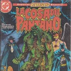 """Cómics: CÓMIC DC """"LA COSA DEL PANTANO (ESPECIAL CRISIS)"""" Nº 9 ED. ZINCO ( ALAN MOORE, BISSETTE, TOTLEBEN ). Lote 224113498"""