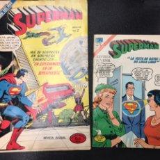 Cómics: 2 COMICS REVISTA JUVENIL NOVARO SUPERMAN AÑOS 70. Lote 224491850