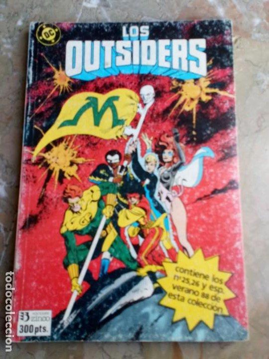 LOS OUTSIDERS RETAPADO Nº 6 ZINCO (CONTIENE LOS Nº 25-26 Y ESPECIAL VERANO 88) (Tebeos y Comics - Zinco - Outsider)