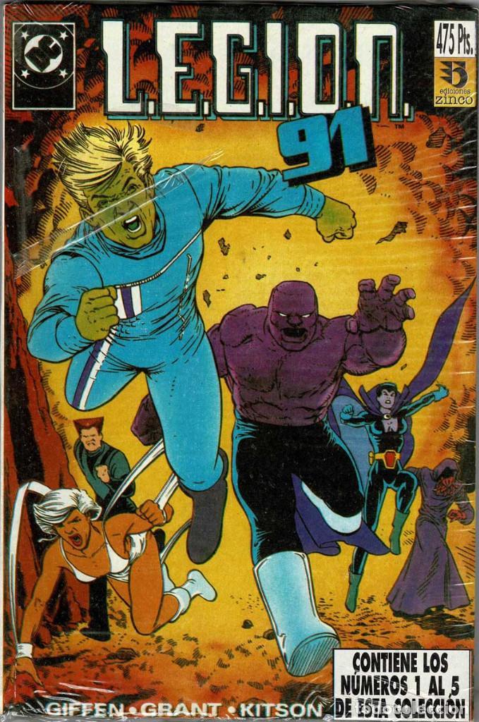 LEGION 91/92. RETAPADO NÚMS. 1 A 5 - GIFFEN, GRANT Y KITSON (PRECINTADO) (Tebeos y Comics - Zinco - Legión 91)