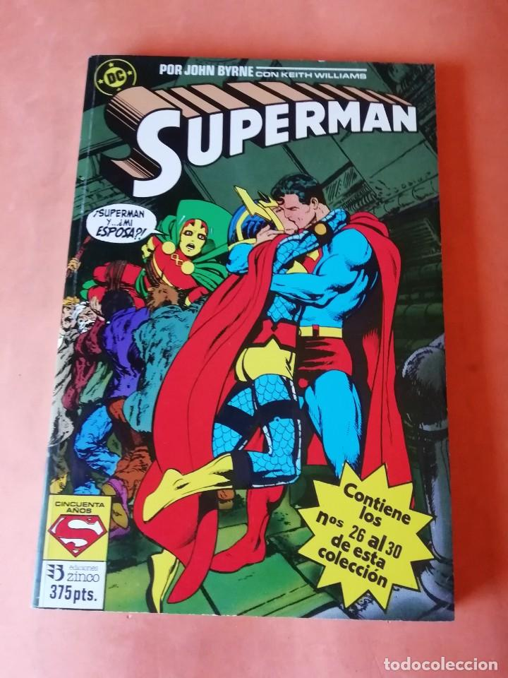 SUPERMAN. JOHN BYRNE. RETAPADO Nº 14. EDICIONES ZINCO. Nº 26 AL 30. (Tebeos y Comics - Zinco - Superman)