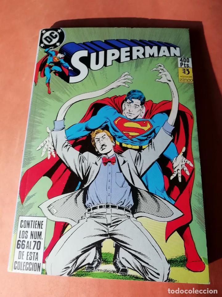 SUPERMAN . DC. RETAPADO Nº 22. EDICIONES ZINCO. Nº 66 AL 70 (Tebeos y Comics - Zinco - Otros)