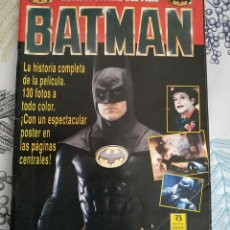 Cómics: BATMAN LA REVISTA OFICIAL DEL FILM LA HISTORIA COMPLETA CON 130 FOTOS POSTER CENTRAL ED. ZINCO 1989. Lote 226679890