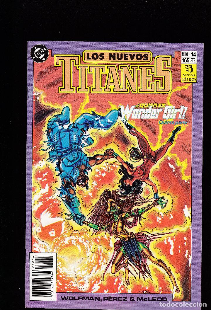 LOS NUEVOS TITANES - Nº 14 - QUIEN ES WONDER GIRL 5 - CONSERVA EL POSTER CENTRAL - ZINCO - (Tebeos y Comics - Zinco - Otros)