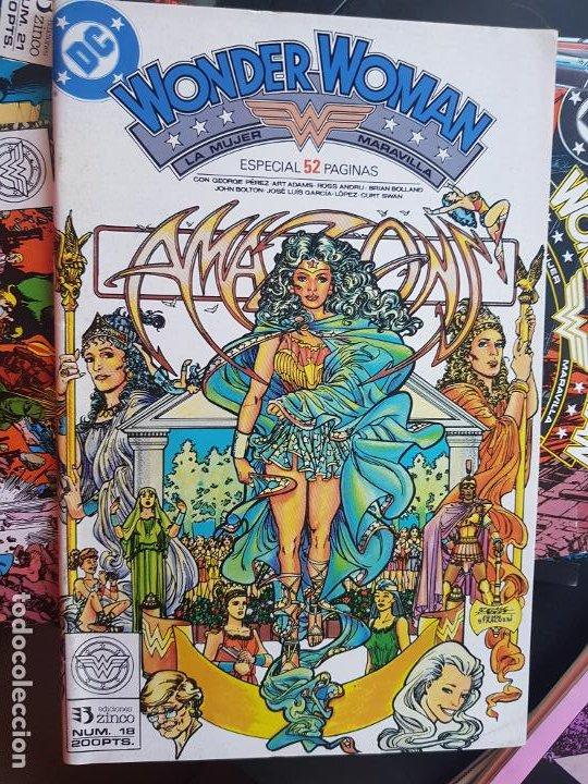 Cómics: LOTE 26 TEBEOS / CÓMIC NUEVOS WONDER WOMAN DC ZINCO LA MUJER MARAVILLA 1989 - Foto 13 - 227827620