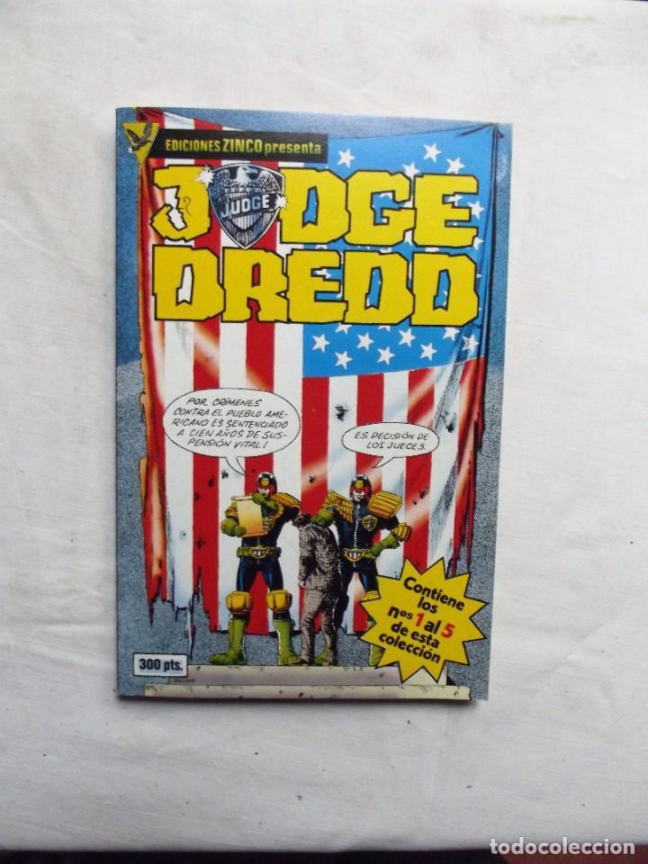 JUDGE DREDD ( Nº 1 AL 5 ) EDICIONES ZINCO (Tebeos y Comics - Zinco - Retapados)