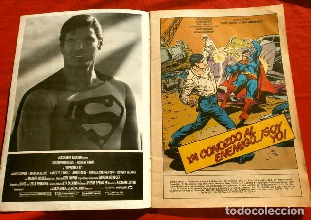 Cómics: SUPERMAN III (1983) EDICION EXTRA - ADAPTACION DEL FILM USA 1983 - ED. DC ZINCO - Foto 2 - 229913530