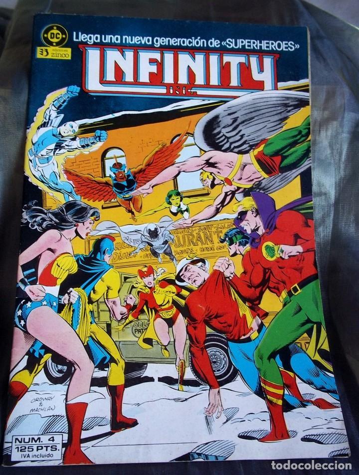 COMIC INFINITY IN Nº 4 NUEVA GENERACIÓN DE SUPERHEROES DC EDICIONES ZINCO B (Tebeos y Comics - Zinco - Infinity Inc)