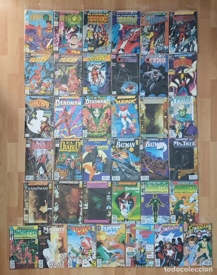 UNIVERSO DC. COLECCIÓN COMPLETA DE 37 COMICS. EDICIONES ZINCO 1989 (Tebeos y Comics - Zinco - Otros)