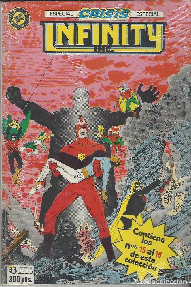 INFINITY - RETAPADO NºS 15 AL 18 - ESPECIAL CRISIS - MUY BUEN ESTADO !! (Tebeos y Comics - Zinco - Infinity Inc)