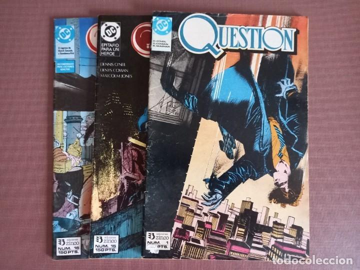 COMIC QUESTION 1, 15 Y 16 (Tebeos y Comics - Zinco - Otros)