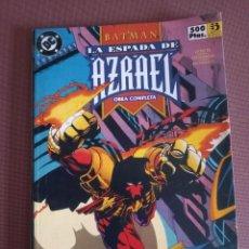 Cómics: COMIC BATMAN LA ESPADA DE AZRAEL TOMO Nº 1 AL 4. Lote 232231220