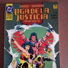 Cómics: COMIC LA LIGA DE LA JUSTICIA COMIENZO Y REENCUENTRO. Lote 232296520