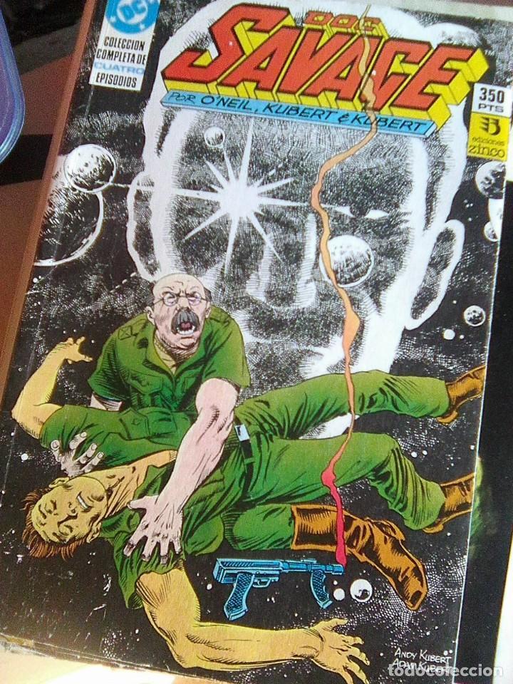 DOC SAVAGE.. DE O´NEILL & KUBERT (ZINCO, 1990) - 1 A 4 - RETAPADO - COMPLETA (Tebeos y Comics - Zinco - Retapados)