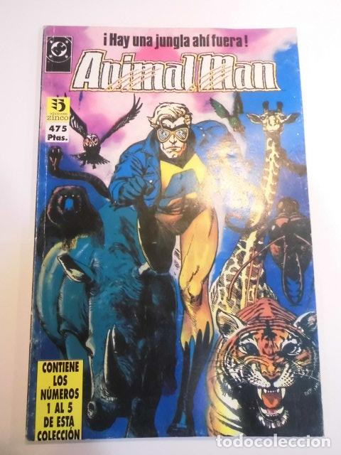 RETAPADO CON CINCO COMICS DE ANIMAL MAN - NUMS 1 AL 5 (Tebeos y Comics - Zinco - Retapados)