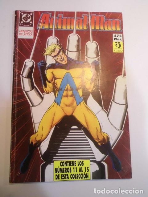 RETAPADO CON CINCO COMICS DE ANIMAL MAN - NUMS 11 AL 15 (Tebeos y Comics - Zinco - Retapados)