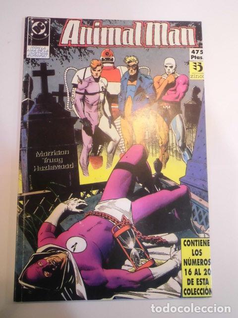 RETAPADO CON CINCO COMICS DE ANIMAL MAN - NUMS 16 AL 20 (Tebeos y Comics - Zinco - Retapados)