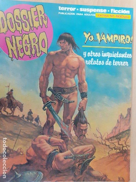 DOSSIER NEGRO EXTRA Nº 12. TERROR, SUSPENSE, FICCIÓN. NÚMEROS 204 AL 207. EXCELENTE ESTADO (Tebeos y Comics - Zinco - Retapados)