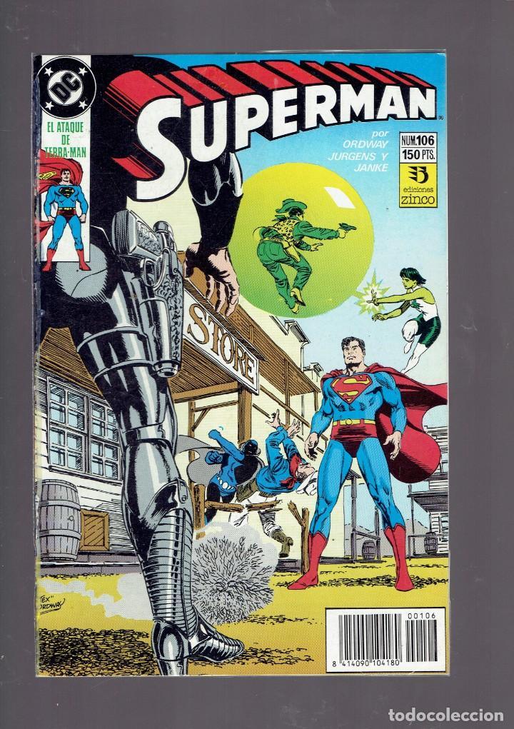 LOTE 15 COMICS DE SUPERMAN DC POR JURGENS Y THIBERT EDICIONES ZINCO S.A. 1984 (Tebeos y Comics - Zinco - Superman)