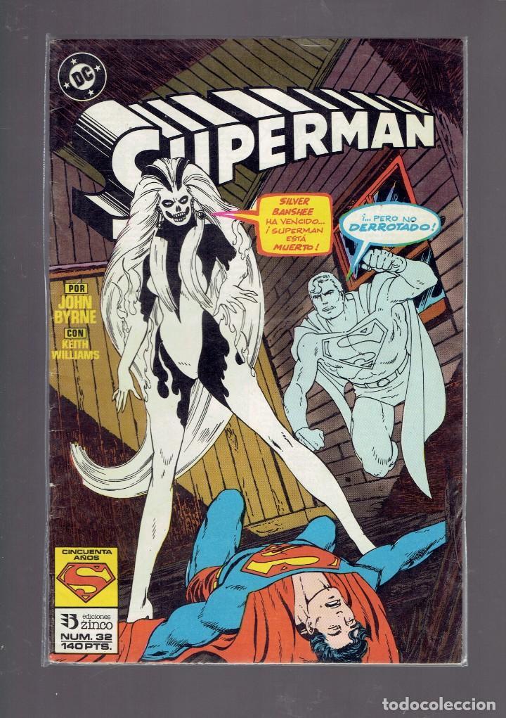 Cómics: LOTE 15 COMICS DE SUPERMAN DC POR JURGENS Y THIBERT EDICIONES ZINCO S.A. 1984 - Foto 2 - 234788325