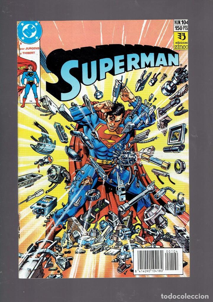 Cómics: LOTE 15 COMICS DE SUPERMAN DC POR JURGENS Y THIBERT EDICIONES ZINCO S.A. 1984 - Foto 3 - 234788325