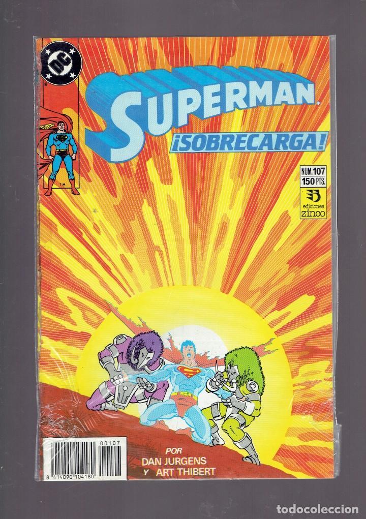 Cómics: LOTE 15 COMICS DE SUPERMAN DC POR JURGENS Y THIBERT EDICIONES ZINCO S.A. 1984 - Foto 4 - 234788325