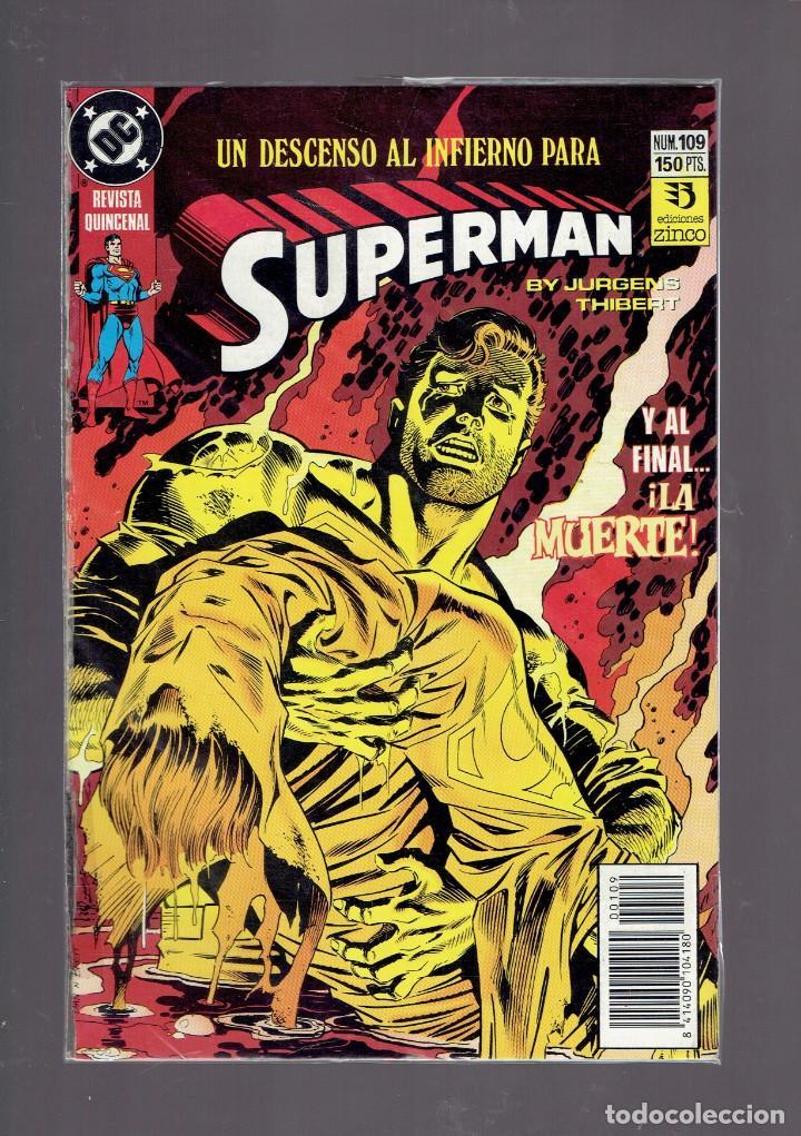 Cómics: LOTE 15 COMICS DE SUPERMAN DC POR JURGENS Y THIBERT EDICIONES ZINCO S.A. 1984 - Foto 6 - 234788325