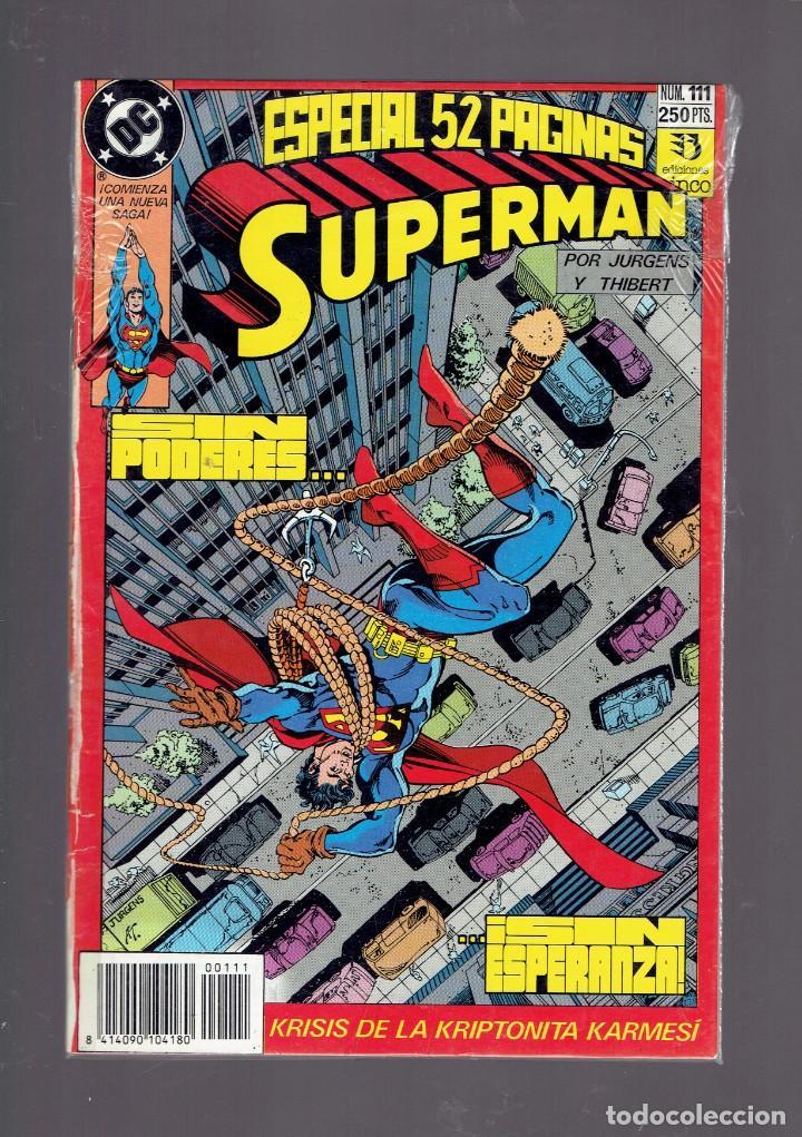 Cómics: LOTE 15 COMICS DE SUPERMAN DC POR JURGENS Y THIBERT EDICIONES ZINCO S.A. 1984 - Foto 8 - 234788325