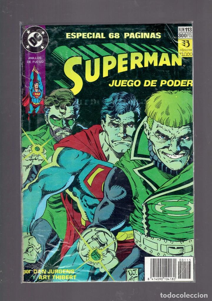 Cómics: LOTE 15 COMICS DE SUPERMAN DC POR JURGENS Y THIBERT EDICIONES ZINCO S.A. 1984 - Foto 10 - 234788325