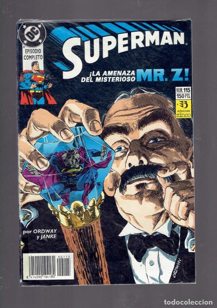 Cómics: LOTE 15 COMICS DE SUPERMAN DC POR JURGENS Y THIBERT EDICIONES ZINCO S.A. 1984 - Foto 12 - 234788325