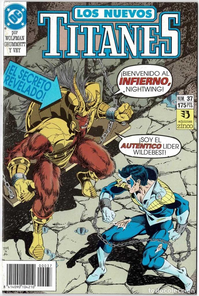 LOS NUEVOS TITANES NO. 37 (Tebeos y Comics - Zinco - Nuevos Titanes)