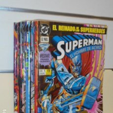 Cómics: SUPERMAN EL HOMBRE DE ACERO EL REINADO DE LOS SUPERHOMBRES COMPLETA 14 NUMEROS - ZINCO OCASION. Lote 235314685