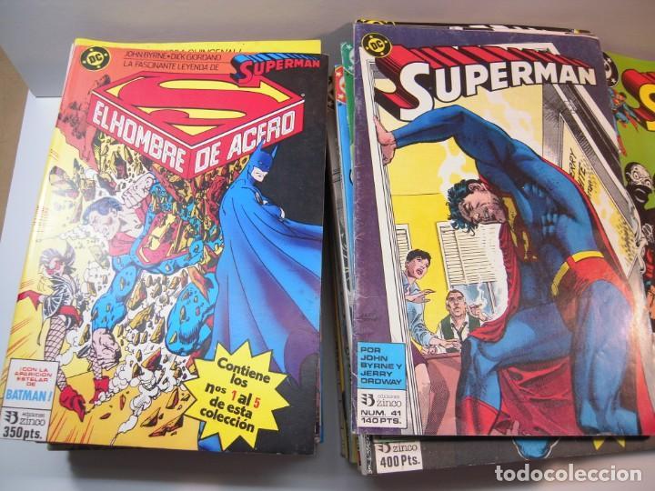 GRAN LOTE DE SUPERMAN DEL 1 AL 121 FALTANDO LOS Nº 28-29-43-86-87-90-101-107-108-113-120 (Tebeos y Comics - Zinco - Superman)