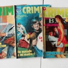 Cómics: LOTE REVISTA CRIMEN (3 REVISTAS) AÑO 1981. Lote 235493270