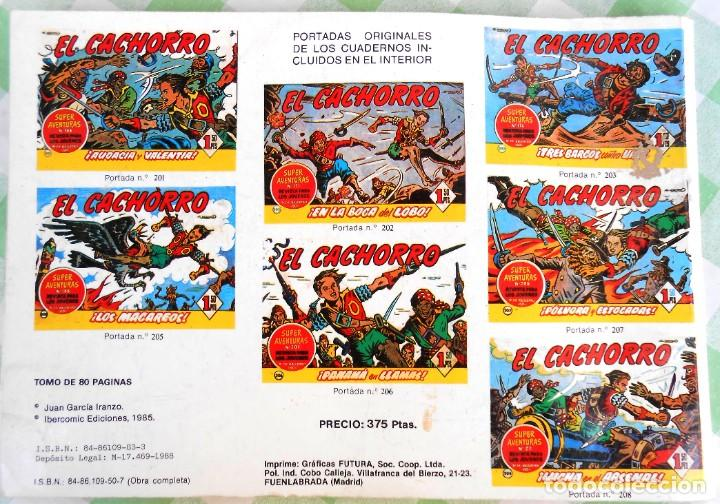 Cómics: El Cachorro, tomito conteniendo 8 tebeos. Ibercomic Ediciones. - Jabato Capitan trueno - Cosaco verd - Foto 2 - 235898310