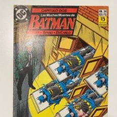Cómics: BATMAN. Nº 34 - CAPITULO DOS - LAS MUCHAS MUERTES DE BATMAN. EDICIONES ZINCO. Lote 236237955