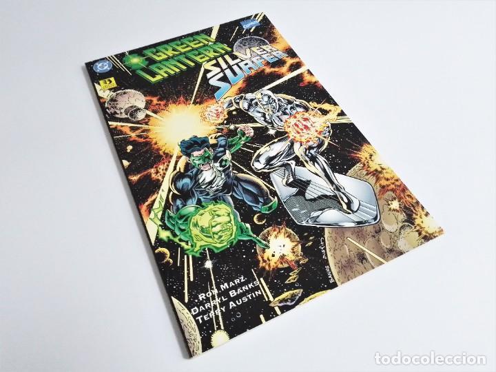 GREEN LANTERN SILVER SURFER ALIANZAS IMPÍAS DC CÓMICS MARVEL RON MARZ DARRYL BANKS TERRY AUSTEN (Tebeos y Comics - Zinco - Prestiges y Tomos)