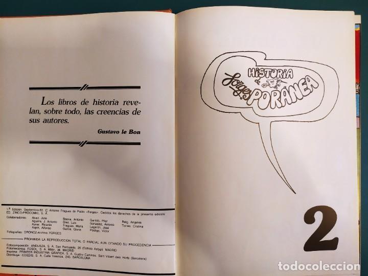 """Cómics: """"Historia (de Aquí) Forgesporánea"""" - (3 tomos)- Forges, Ediciones Zinco-Procomic,S.A., 1983 -1ª ed. - Foto 6 - 237311755"""