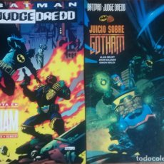 Cómics: BATMAN JUDGE DREDD VENDETTA EN GOTHAM Y JUICIO SOBRE GOTHAM. Lote 238686290