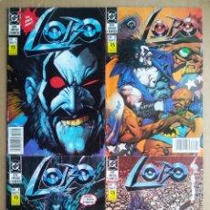 Cómics: LOTE LOBO 1ª SERIE LIMITADA COMPLETA: NÚMEROS 1-2-3-4, POR GIFFEN, GRANT Y BISLEY (ZINCO, 1991).. Lote 241307260