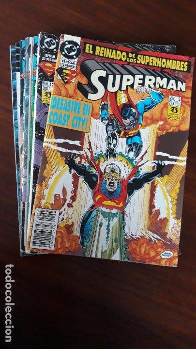 LOTE 9 COMICS SUPERMAN VOL.3 ZINCO + 1 SUPERMAN VID (Tebeos y Comics - Zinco - Superman)