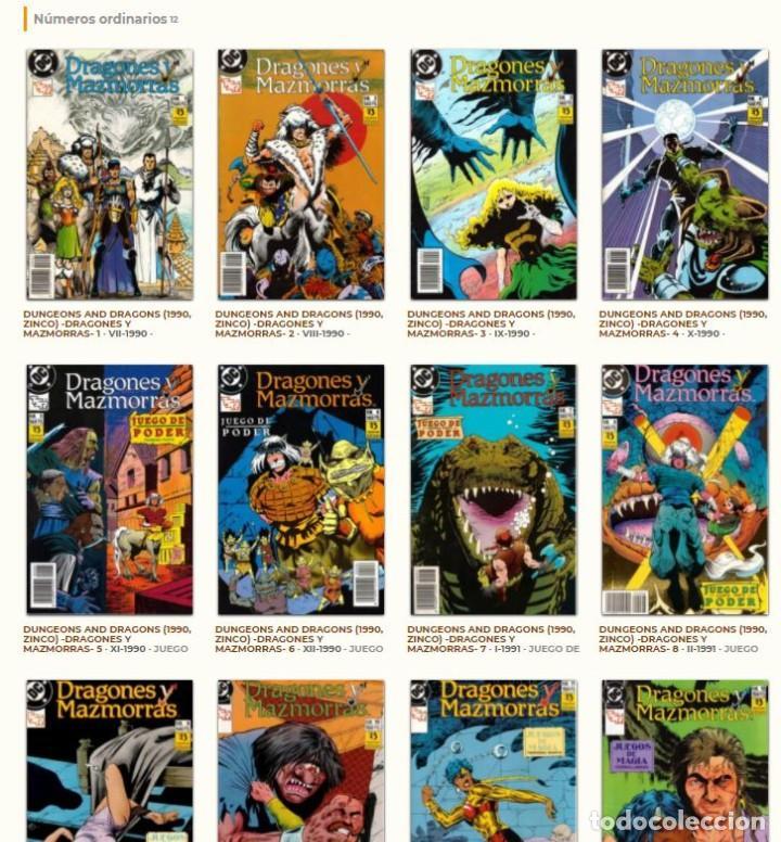 Cómics: DRAGONES Y MAZMORRAS 1 2 3 4 5 6 7 8 9 10 11 12 ( 2 retapados ) - COMPLETA, ZINCO, 1990. - Foto 3 - 113832843