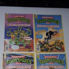 Cómics: LOTE 4 PRIMEROS NUMEROS COMIC TORTUGAS NINJA EDICIONES ZINCO LEER DESCRIPCION. Lote 242064335