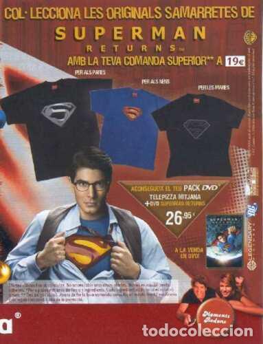 Cómics: Superman Returns camiseta Telepizza 2006 Tele Pizza Bryan Singer promocional Talla M - Foto 6 - 242246130