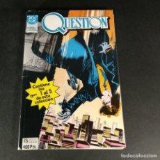 Cómics: DC COMICS QUESTION TOMO 1 RETAPADO CON LOS NÚMEROS DEL 1 AL 5 1 2 3 4 5 EDICIONES ZINCO. Lote 244475890