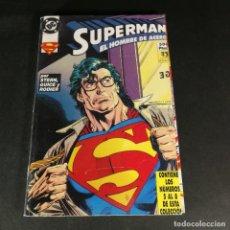 Cómics: DC COMICS SUPERMAN EL HOMBRE DE ACERO TOMO RETAPADO NÚMEROS DEL 5 AL 8 5 6 7 8 ZINCO COMO NUEVO. Lote 244477680