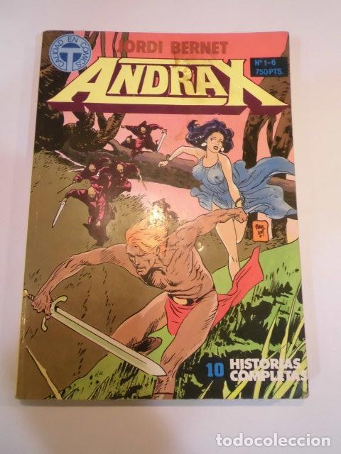 RETAPADO 6 COMICS ANDRAX - NUM 1 AL 6 (Tebeos y Comics - Zinco - Retapados)