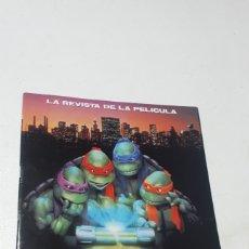 Comics: REVISTA DE LA PELICULA LAS TORTUGAS NINJA II EDICIONES ZINCO COMO NUEVA 1991. Lote 246965270