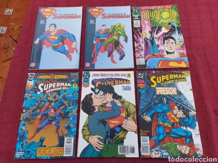 SUPERMAN ZINCO-PLANETA DEAGOSTINI -LOTE DE 6 COMIC-KRYPTON- EL HOMBRE DE ACERO-AVENTURAS- HEROE DC (Tebeos y Comics - Zinco - Superman)