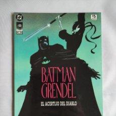 Comics: BATMAN / GRENDEL. EL ACERTIJO DEL DIABLO #1 (DE 2) (1 TOMO TAPA BLANDA). Lote 247943910